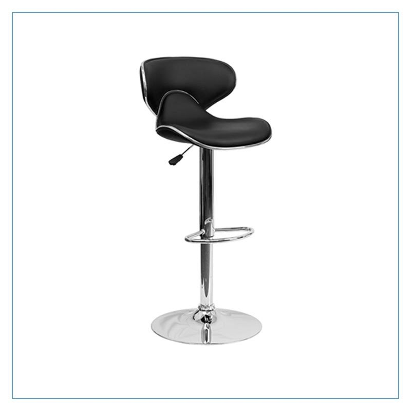 Oxbow Bar Stools - Black - Trade Show Furniture Rentals from LV Exhibit Rentals in Las Vegas