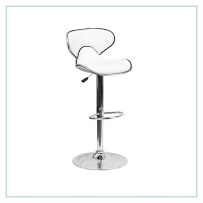 Oxbow Bar Stools - White - Trade Show Furniture Rentals from LV Exhibit Rentals in Las Vegas