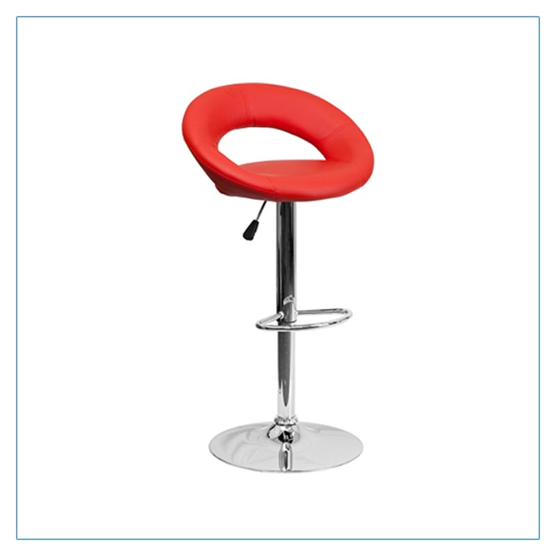 Pluto Bar Stools - Red - Trade Show Furniture Rentals from LV Exhibit Rentals in Las Vegas