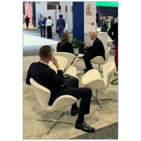 Pori Lounge Chairs - White - AAOS - LV Exhibit Rentals in Las Vegas