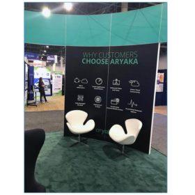 Pori Lounge Chairs - White - Aryaka - LV Exhibit Rentals in Las Vegas