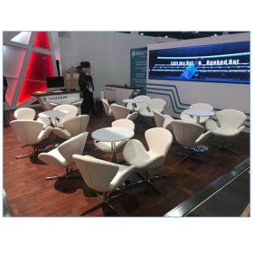Pori Lounge Chairs in White - LV Exhibit Rentals in Las Vegas