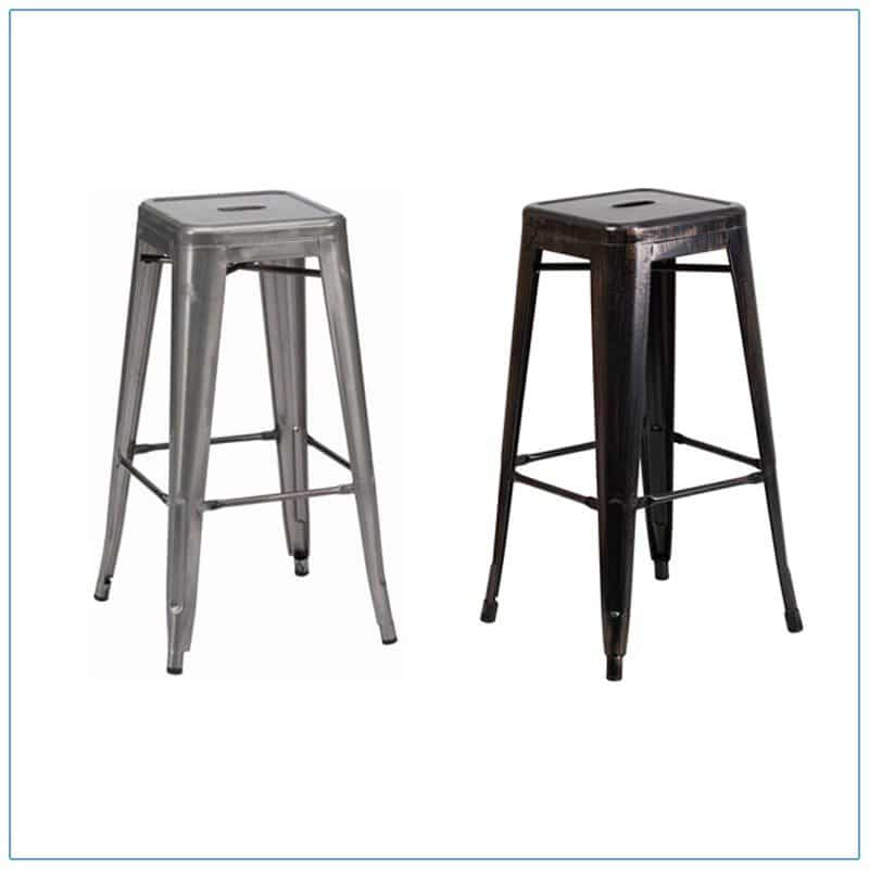 Retro Backless Bar Stools - Trade Show Furniture Rentals from LV Exhibit Rentals in Las Vegas