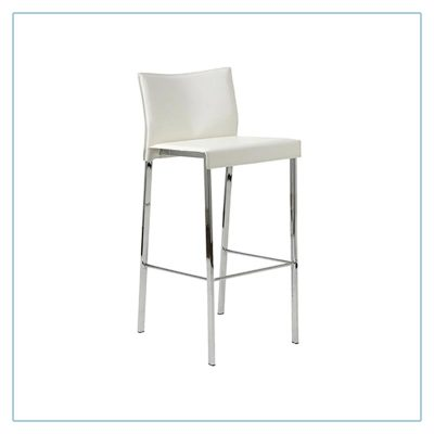 Riley Bar Stools - White - Trade Show Furniture Rentals from LV Exhibit Rentals in Las Vegas