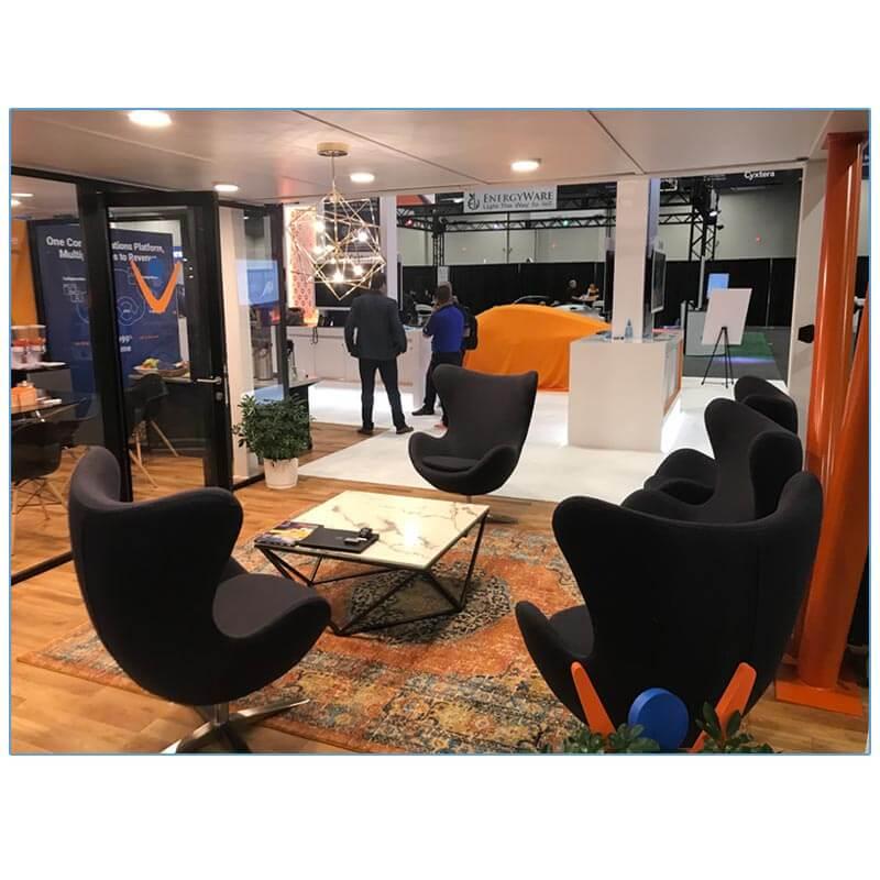 Seek Lounge Chairs - Iron Gray - Vonage - LV Exhibit Rentals in Las Vegas