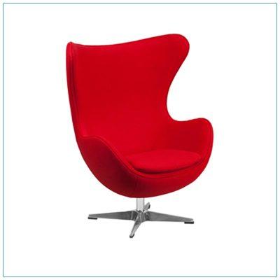 Seek Lounge Chairs - Red - LV Exhibit Rentals in Las Vegas