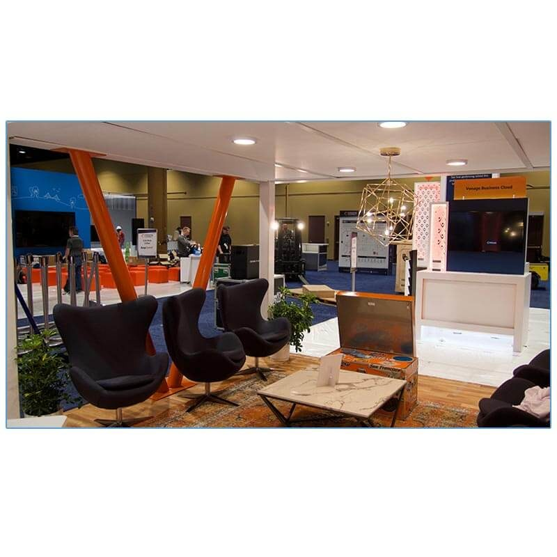 Seek Lounge Chairs in Iron Gray - LV Exhibit Rentals in Las Vegas