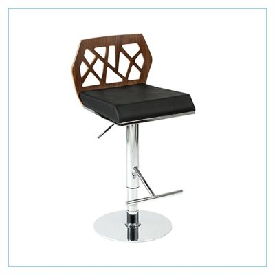 Sophia Bar Stools - Black with Walnut - Trade Show Furniture Rentals from LV Exhibit Rentals in Las Vegas