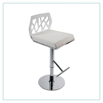 Sophia Bar Stools - White - Trade Show Furniture Rentals from LV Exhibit Rentals in Las Vegas