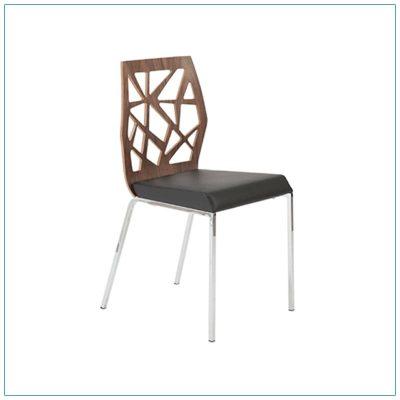 Sophia Chairs - Walnut with Black - LV Exhibit Rentals in Las Vegas