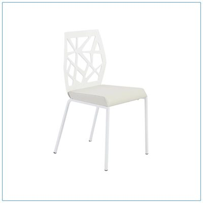 Sophia Chairs - White - LV Exhibit Rentals in Las Vegas