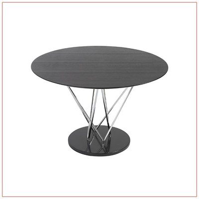 Stacy Cafe Table - Black - LV Exhibit Rentals in Las Vegas