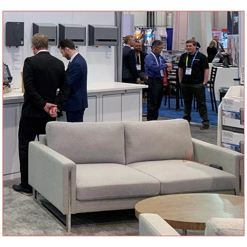 Stella Sofa - Paragon Group National Hardware 2019 - LV Exhibit Rentals in Las Vegas