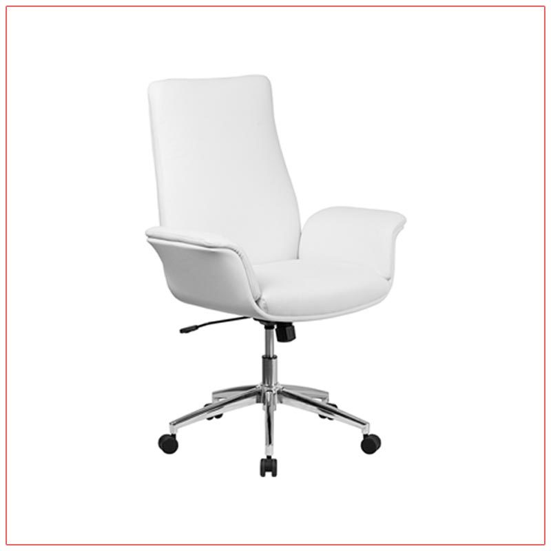 Swift Office Chairs - White - LV Exhibit Rentals in Las Vegas