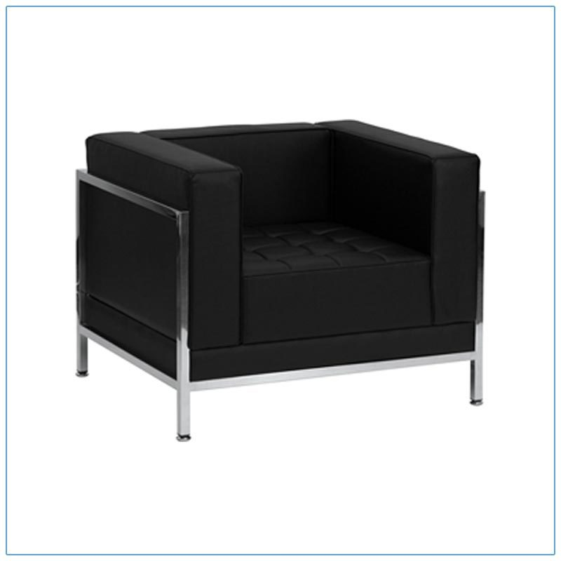 Tampa Lounge Chairs - Black - LV Exhibit Rentals in Las Vegas