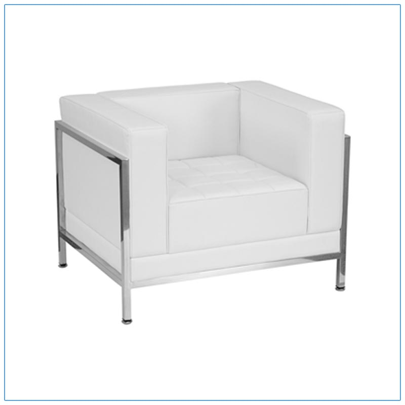 Tampa Lounge Chairs - White - LV Exhibit Rentals in Las Vegas