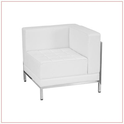 Tampa Right Corner Sectional - White - LV Exhibit Rentals in Las Vegas