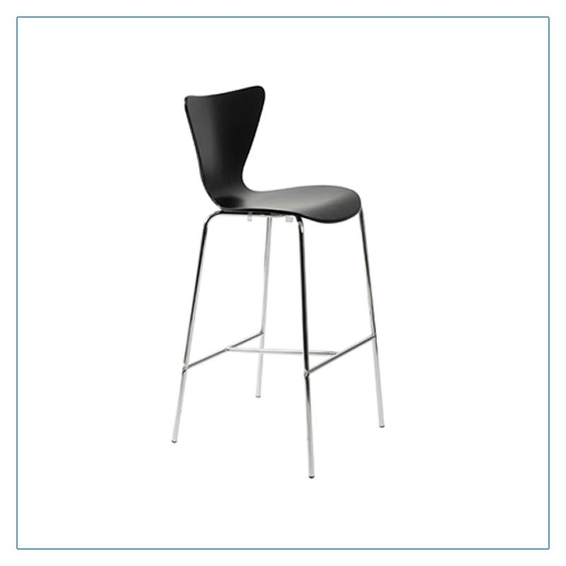 Tendy Bar Stools - Black - Trade Show Furniture Rentals from LV Exhibit Rentals in Las Vegas