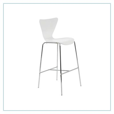 Tendy Bar Stools - White - Trade Show Furniture Rentals from LV Exhibit Rentals in Las Vegas