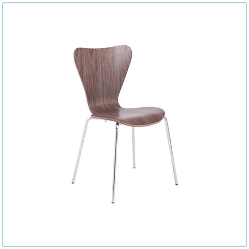 Tendy Chairs - Walnut - LV Exhibit Rentals in Las Vegas