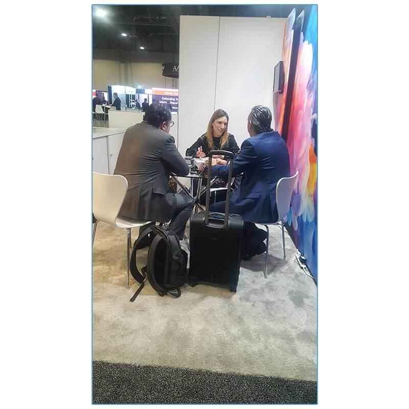 Tendy Chairs - White - AAOS 2019 - LV Exhibit Rentals in Las Vegas