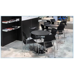 Terry Chairs - Black - Airplaco - LV Exhibit Rentals in Las Vegas