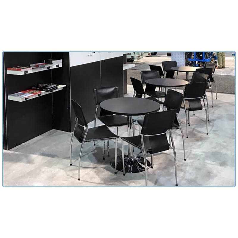 Terry Chairs - Black - Airplaco - LV Exhibit Rentals in Las Vegas