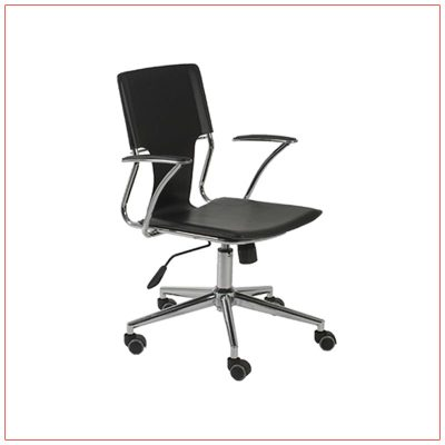 Terry Office Chairs - Black - LV Exhibit Rentals in Las Vegas