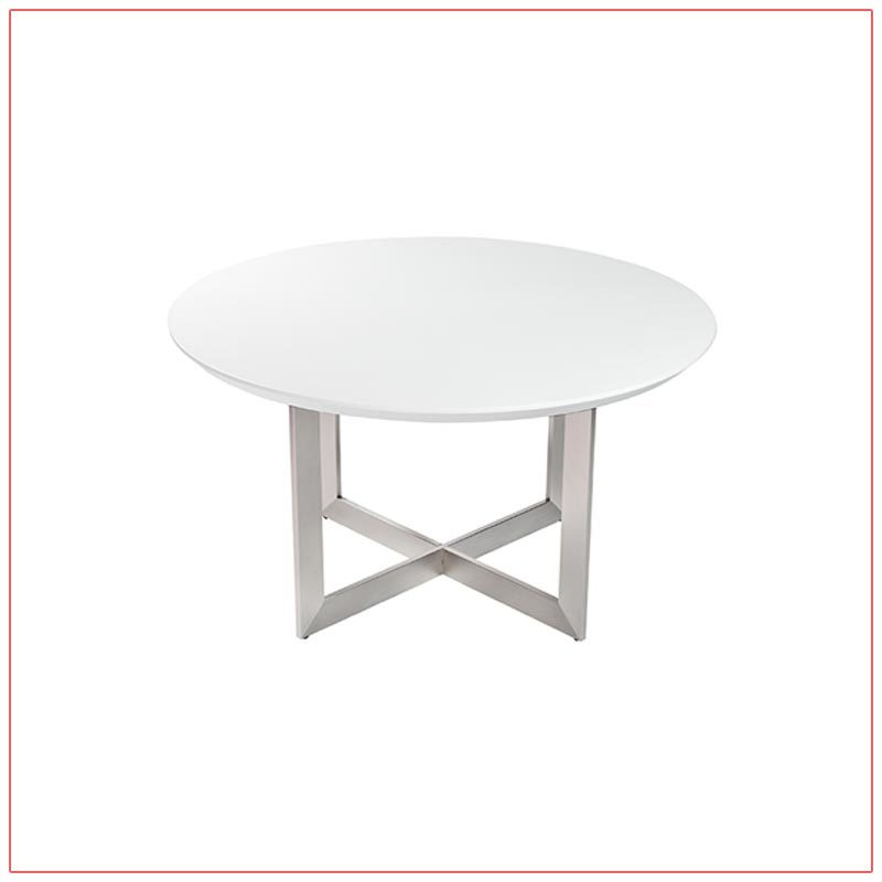 Tosca Cafe Table - White - LV Exhibit Rentals in Las Vegas