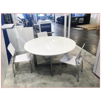 Tosca Cafe Table with White Top - LV Exhibit Rentals in Las Vegas
