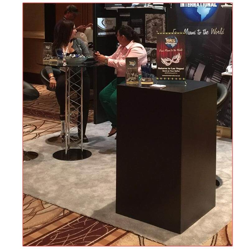 Trave Bar Table - KRS International - LV Exhibit Rentals in Las Vegas