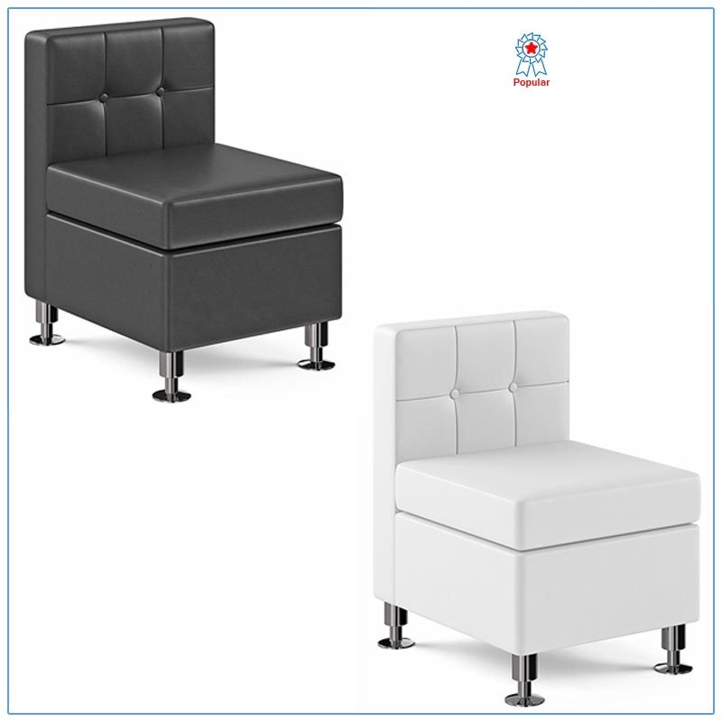Tuft Armless Lounge Chairs - LV Exhibit Rentals in Las Vegas