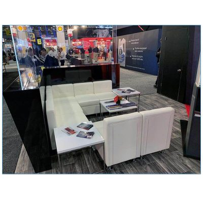 Tuft Armless Lounge Chairs in White - LV Exhibit Rentals in Las Vegas