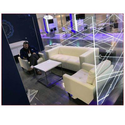 Twist Sofa in White - LV Exhibit Rentals in Las Vegas