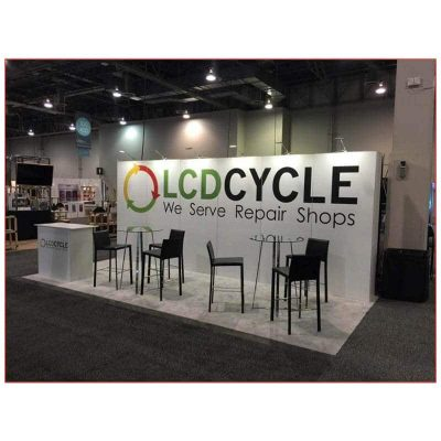 Ursula Bar Table - LCD Cycle - LV Exhibit Rentals in Las Vegas