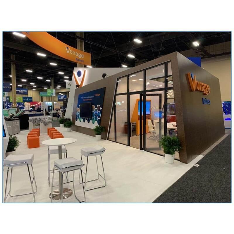 Wedge Bar Stools -White - LV Exhibit Rentals in Las Vegas