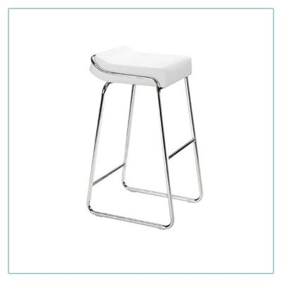 Wedge Bar Stools - White - Trade Show Furniture Rentals from LV Exhibit Rentals in Las Vegas