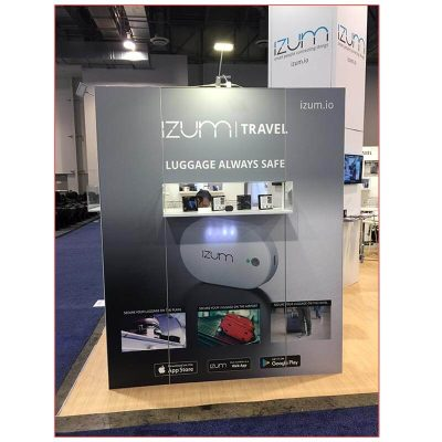 20x20 Trade Show Booth Rental Package 401 - Custom Product Display - LV Exhibit Rentals in Las Vegas