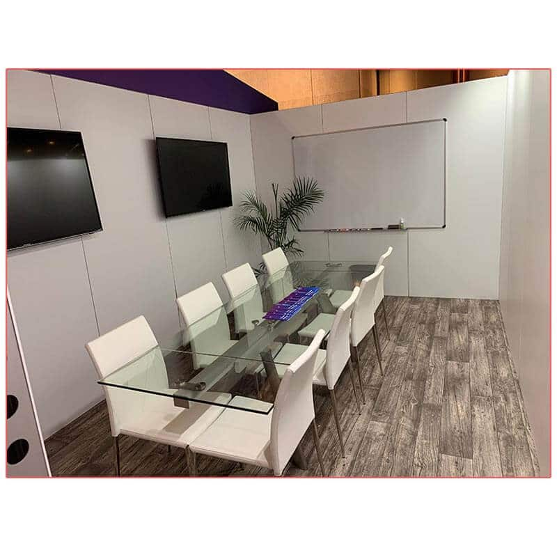 20x20 Trade Show Booth Rental Package 402 - Conference Room - LV Exhibit Rentals in Las Vegas