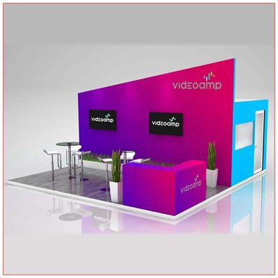 20x20 Trade Show Booth Rental Package 402 - LV Exhibit Rentals in Las Vegas