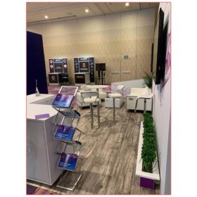 20x20 Trade Show Booth Rental Package 402 - Reception Side View - LV Exhibit Rentals in Las Vegas