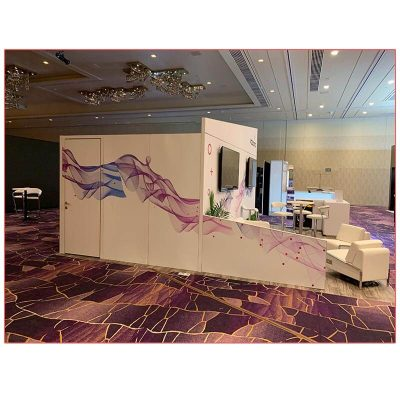 20x20 Trade Show Booth Rental Package 402 - Storage Closet Side - LV Exhibit Rentals in Las Vegas