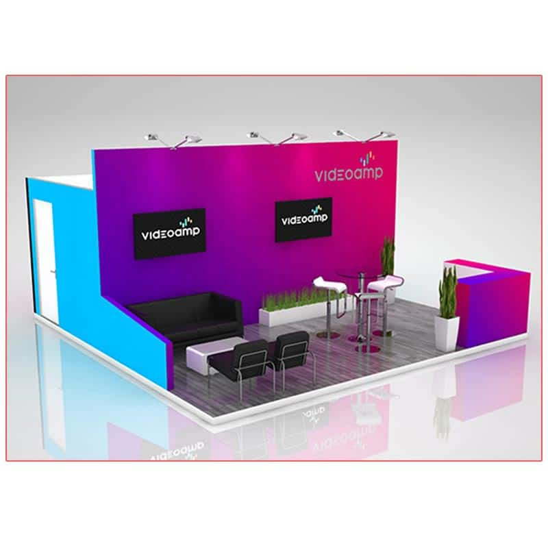 20x20 Trade Show Booth Rental Package 402A - LV Exhibit Rentals in Las Vegas