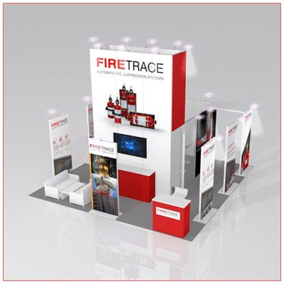 20x20 Trade Show Booth Rental Package 403 - LV Exhibit Rentals in Las Vegas