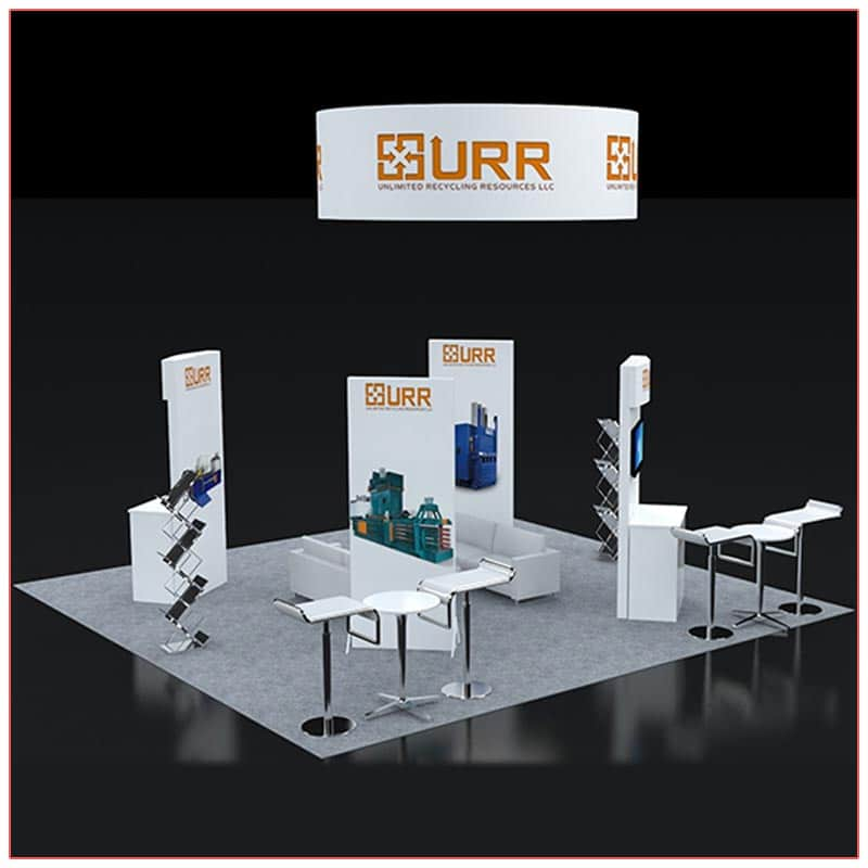 20x20 Trade Show Booth Rental Package 404 Back View - LV Exhibit Rentals in Las Vegas