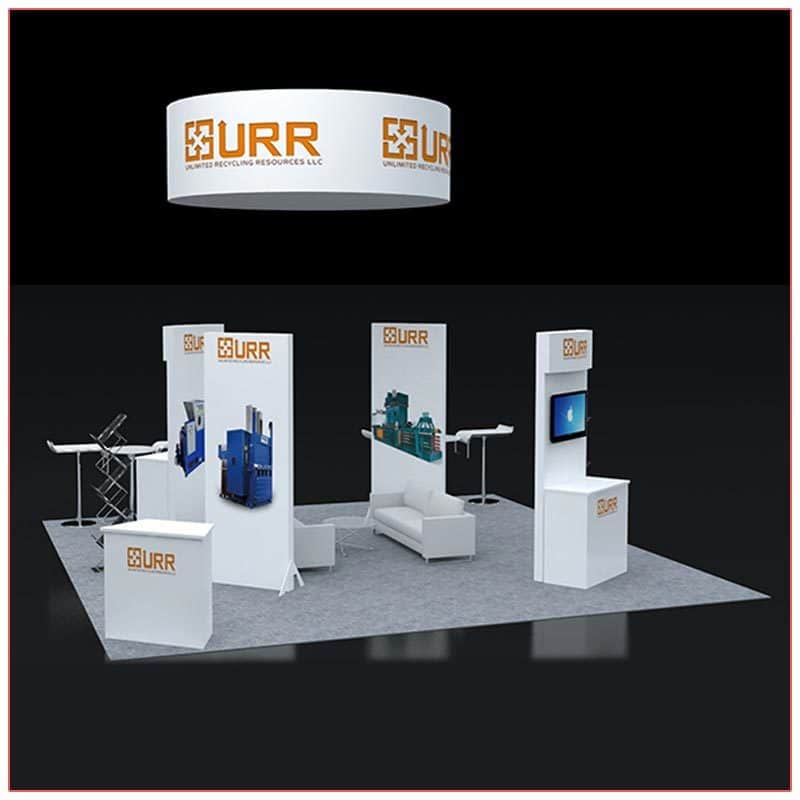 20x20 Trade Show Booth Rental Package 404 - LV Exhibit Rentals in Las Vegas