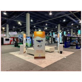 20x20 Trade Show Booth Rental Package 404 - URR at Waste Expo 2019 - Back View - LV Exhibit Rentals in Las Vegas