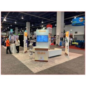 20x20 Trade Show Booth Rental Package 404 - URR at Waste Expo 2019 - Kiosk - LV Exhibit Rentals in Las Vegas