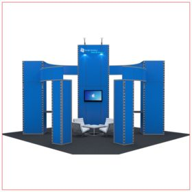 20x20 Trade Show Booth Rental Package 405 - Front View - LV Exhibit Rentals in Las Vegas