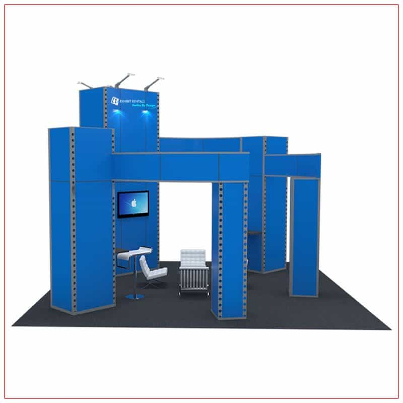 20x20 Trade Show Booth Rental Package 405 - Side View - LV Exhibit Rentals in Las Vegas